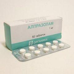 Alprazolam u dozi od 1 mg