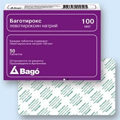 Таблетки Баготирокс в дозировке 100 мкг
