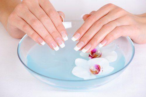 Ванночки с морской солью для ногтей