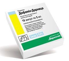 Лекарственная форма Дофамина - концентрат для приготовления раствора для инфузий