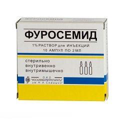 Диуретическое средство Фуросемид в ампулах
