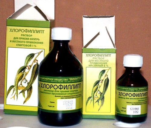 Основной компонент, входящий в состав этого лекарства - хлорофилл