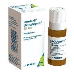 Экзодерил в форме раствора для наружного применения