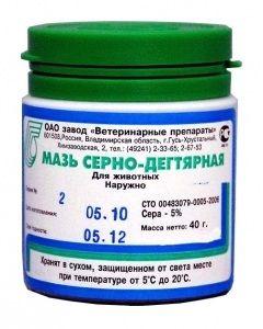 Серно-дегтярная мазь - препарат для лечения эритразмы