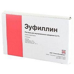 Эуфиллин в виде раствора для инъекций