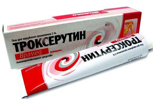 «Троксерутин» используется для снижения ломкости капилляров, уменьшению их проницаемости, снижение воспаления