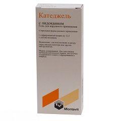 Антисептический гель Катеджель c лидокаином
