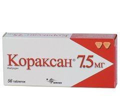 Кораксан в дозировке 7,5 мг