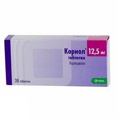 Таблетки Кориол 12,5 мг