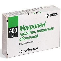 Таблетки Макропен в дозировке 400 мг