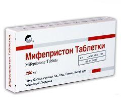 Таблетки Мифепристон 200 мг