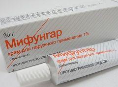 Форма выпуска Мифунгара - крем для наружного применения