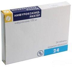 Кишечные антисептические таблетки Нифуроксазид Рихтер