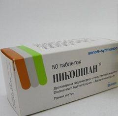 Вазодилатирующий препарат Никошпан
