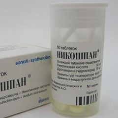 Никошпан в форме таблеток