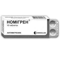Форма выпуска Номигрена - таблетки