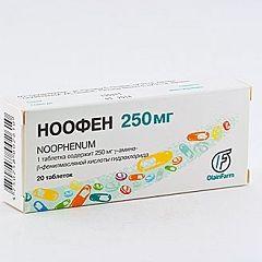 Ноофен в таблетках 250 мг