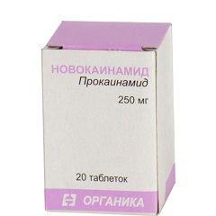 Новокаинамид в таблетках 250 мг