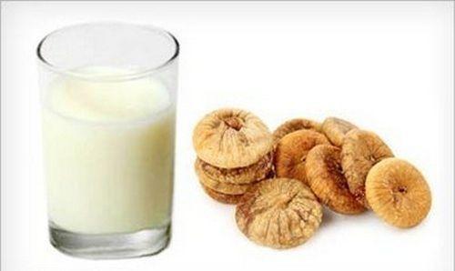 Рецепт инжира с молоком также помогает при кашле