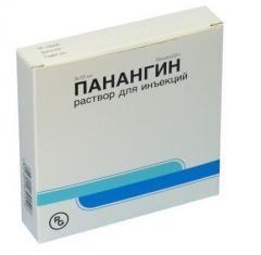 Раствор для инъекций Панангин