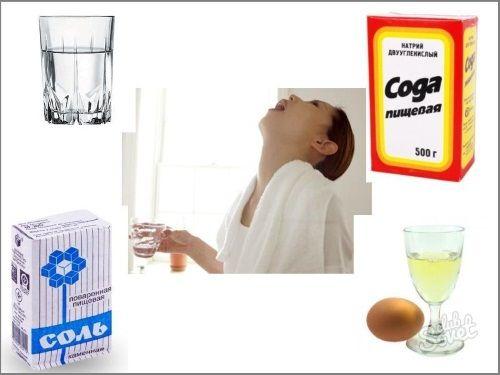 Сода, соль и йод – незаменимый помощник при болях в горле