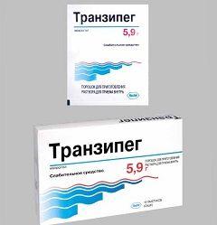 Слабительный препарат Транзипег в дозировке 5,9 г