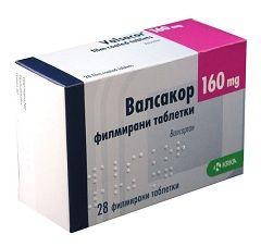 Таблетки Вальсакор в дозировке 160 мг