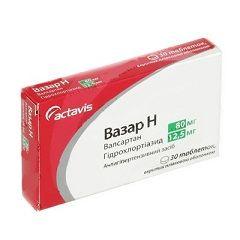 Таблетки Вазар Н в дозировке 80 мг