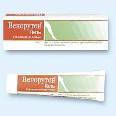 Venoruton gel za lokalno uporabo