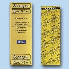 Золадекс в дозировке 3,6 мг